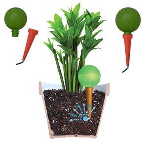 Plantpal sistema di irrigazione per piante Aqua Globes-Bulbi spuntoni per irrigazione automatica piante in vaso con sistema di irrigazione per le vacanze dispositivi per una sana crescita delle piante Auto innaffiante, palo gocciolatoio a forma di bottiglia di vino