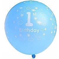 Baby Primer Cumpleaños Alles Gute zum Cumpleaños Nubes látex globo Party Alimentación bevorzugung Decoración Azul