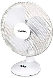 HOWELL VET301MQ Ventilatore da Tavolo, 40 Watt, Bianco, 30 cm