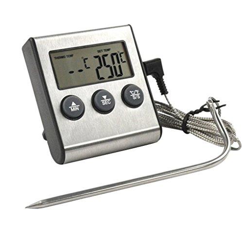 Dergtgh Digital Display Tragbare Lebensmittel-Fleisch-Thermometer für Küche Kochen Ofen Smoker BBQ Grill Fleisch Temperatur Detect -