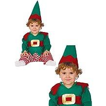 Disfraz de Elfo Baby rayas para bebé