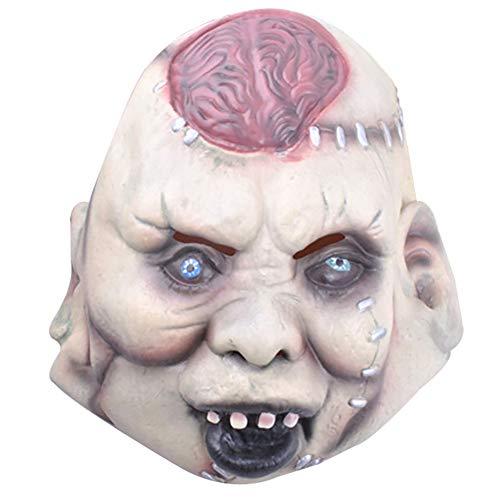 JER 1 STÜCKE Halloween Masken Scary Kopfbedeckung Bar Dekoriert Requisiten Horror Maske Teufel Burst Gehirn Maske