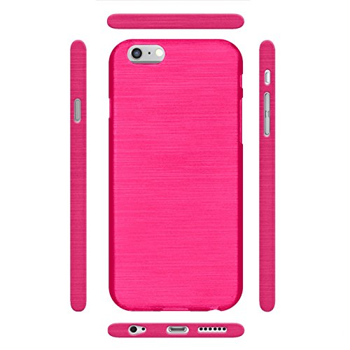 iPhone 6s Plus, 6 Plus Silikon Hülle, Conie Mobile Brushed Case Schlanke Schutzhülle TPU Handyhülle Backcover Rückschale in Pink Pink