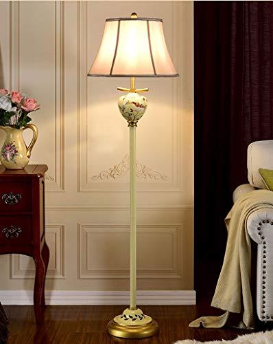 Lampadaires- After Tang Artisanat Lampe de table peinte à la main Creative Retro Lampe de table tridimensionnelle Lampe de lecture pour le pays américain (Color : Yellow)