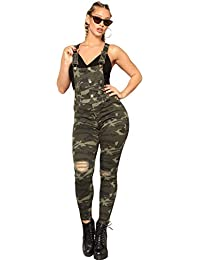 0750bf1c6811 Boldgal Girl s Fashion Sleeveless Casual Overall Dungaree (Army Green)