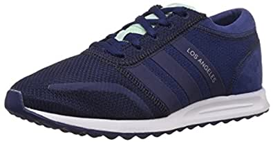 adidas Originals Women's Los Angeles W Blue and White Sneakers - 9 UK
