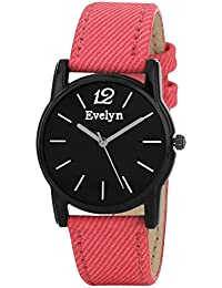 Evelyn Analogue Black Dial Girl's Watch