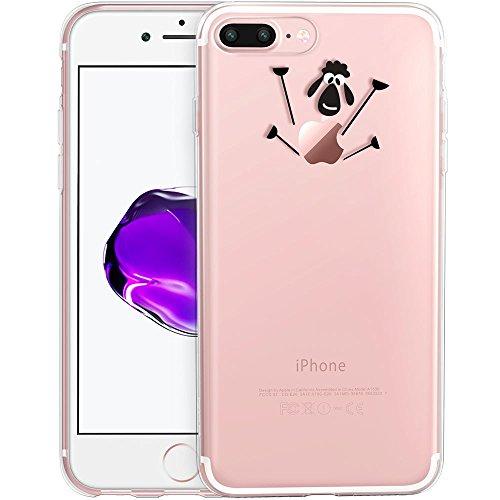 iPhone 7 Plus Hülle (5,5 Zoll), ESR® Mania Series Transparent Weiche Silikon Hülle Muster TPU Bumper Case Schutzhülle für iPhone 7 Plus (Hase) Schaf