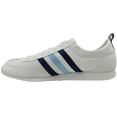 adidas neo VS Jog Schuhe Herren Sneaker Turnschuhe Weiß AQ1351 Weiß (Weiß-Blau)