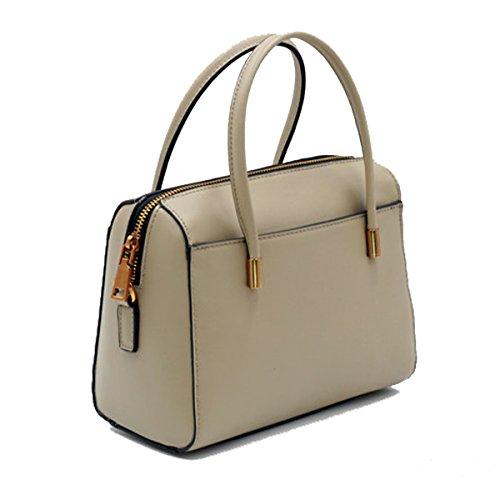 Frauen Handtaschen Mode Umhängetasche Einfach Leder Schultertasche Multicolor Beige