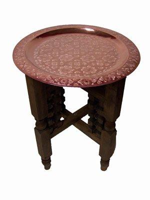 Marrakesch Orient & Mediterran Interior ® Orientalischer Tisch Mehdia – Kupferfarbig, 40cm