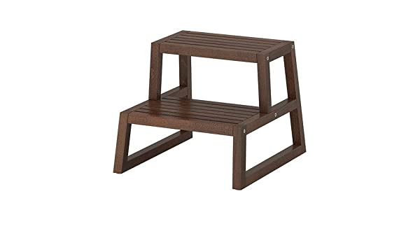 Ikea molger step stool in dark brown: amazon.co.uk: kitchen & home
