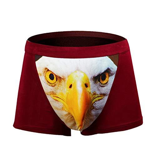 Barlingrock Herren Slips Eagle 3D Print Atmungsaktive Unterhosenhöschen