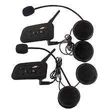 V6-1200M interfono Bluetooth wireless il vento e citofono moto impermeabile, escursioni in bicicletta, sci, alpinismo auricolare Bluetooth