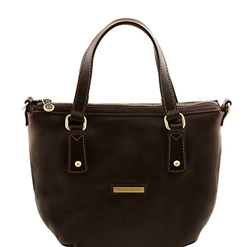 Tuscany Leather Olga - Sac shopping en cuir - TL141483 (Miel) Marron foncé