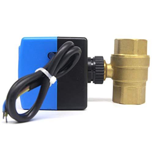 SODIAL Ac220V 2 Way 2 Draht Elektro Antrieb Kugel Hahn, Kaltes & Warmes Wasser Dampf/Hitze Gas Motorisiertes Kugel Ventil Mikro Elektrisches Ventil Dn15 -