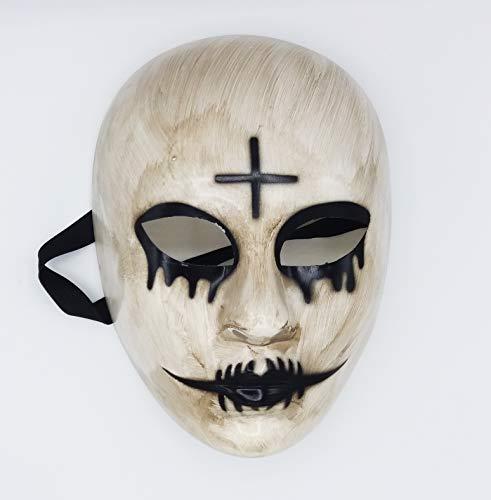 Máscara de la Purga Cruz para Disfraz de Halloween Terrorífico