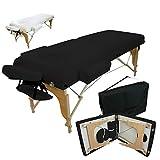 Vivezen  Table de massage 13 cm pliante 2 zones en bois avec panneau Reiki +...