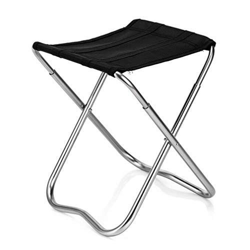 SZP Tabouret de pêche de Pliage en Plein air, Portable Ultra-léger en Alliage d'aluminium Chaise de Camping, Grande capacité de roulement, approprié pour des Sorties de Barbecue