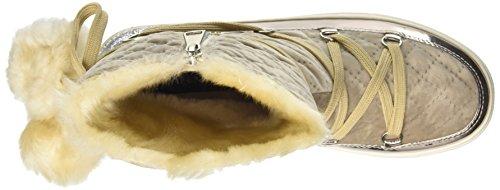 Cafè Noir Donna Sneaker LFB902094F8 FB902 MONBOOT IN VELLUTO E POMPON IN PELL Nero (Beige)