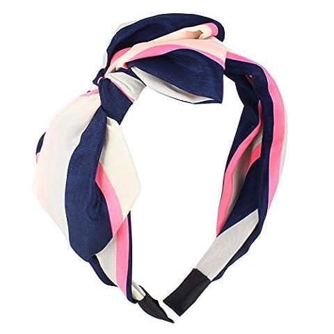 Streifen gedruckt Verbandsmull beschichtetem Kunststoff Haarreif Haar-Band für Mädchen