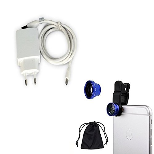 Cell Planet's Mobile Charger for CP Gionee P5 Mini 2 Amp + Mobile Camera Lens