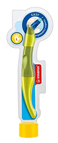 Ergonomischer Tintenroller - STABILO EASYoriginal in limone/grün - Schreibfarbe blau (löschbar) - inklusive Patrone - für Linkshänder