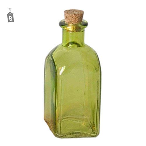 Bouteille en verre avec bouchon liège ml.120 4 couleurs – Mod.B