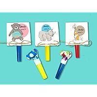 Einladungskarten Kindergeburtstag - ZOO- inkl. Party Tröte