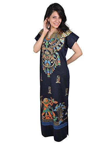 Tragen Sie Kaftan (Egypt Bazar Cleopatra Pharao Kostüm Damen-Kaftan Faschingskostüm Karnevalskostüm Ägypterin dunkelblau (S (36-38)))