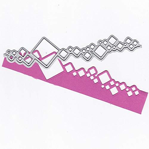 hablonen Metall Schneiden Schablonen für DIY Scrapbooking Album, Schneiden Schablonen Papier Karten Sammelalbum Dekor 0215@027 ()