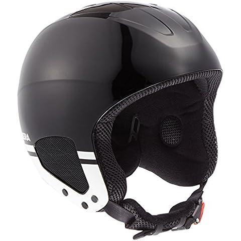 Carrera casco da sci da uomo Thunder, Uomo, Skihelm Thunder, Schwarz/Weiß/Shiny, M - Sci Caschi