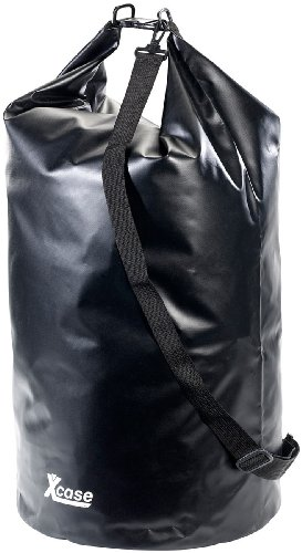 Xcase Seesack: Wasserdichter Packsack 70 Liter, schwarz (Packtaschen)
