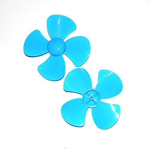 Micro DC Motor Shaft Propeller with 4 Fan Shape palettes for Fan Blades Ship Model DIY Airplane Science and Educational Toys (Random Color) 2 Parts