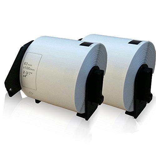 Preisvergleich Produktbild 2x kompatible Etiketten-Rolle für Brother DK-11202 P-Touch QL560VP P-Touch QL560YX P-Touch QL570 P-Touch QL580 P-Touch QL580N P-Touch QL650TD P-Touch QL700 P-Touch QL710W P-Touch QL720NW Adressetiketten 62mm x 100mm DK11202