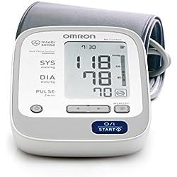 OMRON M6 Comfort HEM-7221-E8(V) Tensiómetro Electrónico de Brazo, Gris, 90 Memorias, Tecnología Intellisense, Sistema de Doble Comprobación, Pantalla Digital