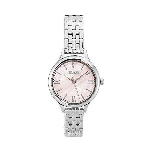 Stroili - Kensington - Orologio da polso solo tempo con cassa e cinturino in acciaio e quadrante rosa per Donna