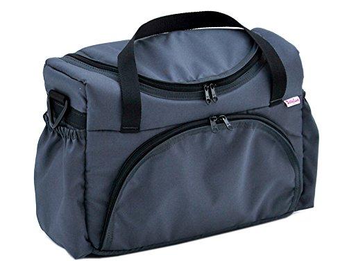 Preisvergleich Produktbild BABYLUX Pflegetasche WICKELTASCHE Kinderwagentasche Windeltasch für Kinderwagen (Grafit)