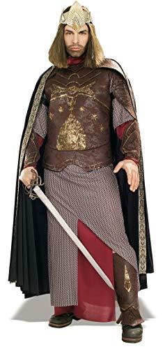 Aragorn Für Kostüm Erwachsenen - Rubie's 3 56032 - Deluxe Aragon King of Gondor Kostüm, Größe M/L, braun/beige/rot/gold