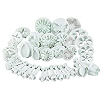 ‏‪Monico 36pcs Fondant Cutters Cookie Plunger Cutters Snowflake Flower Leaf Butterfly Shape Icing Modelling Tools for Cake Sugarcraft Decorating‬‏