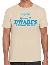 Funky NE Ltd Dwarf Statistics - Snow White Parody Tshirt - 100% Cotton - Small To XXL - 3 Colours - Great Gift Idea by