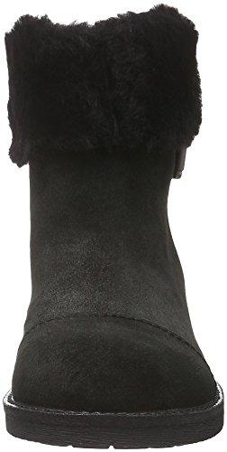 Geox D New Virna F, Bottes Motardes Femme Schwarz (BLACKC9999)