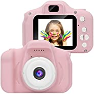 Kids Camera Gifts for 4-8 Year Old Girls, Shockproof Cameras Great Gift Mini Child Camcorder for little Girl W