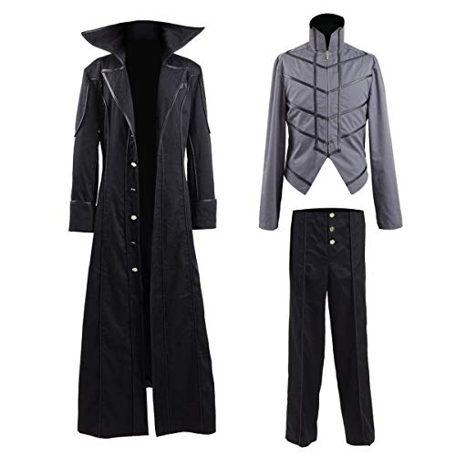 e Genius Akira Kurusu Cosplay Kostüm Persona 5 Protagonist P5 Cosplay Ren Amamiya Joker Halloween Kostüm Gr. XL, Black Cotton Pant