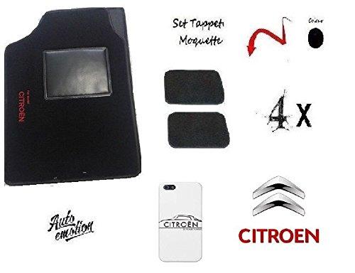 Preisvergleich Produktbild Set 4Fußmatten Fußmatten Auto aus Teppich mit Aufschrift For Model Citroen