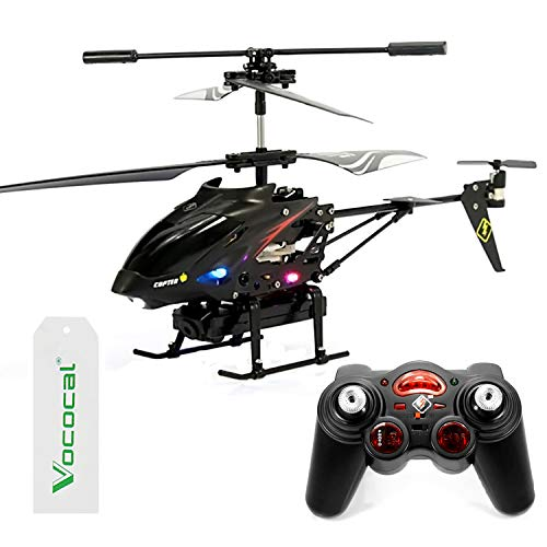 Vococal S977 Mini Model Toy Helicopter Airplane Drone - Remote Control RC Gyroscope GYRO 3.5 Channels with LED Light 0.3MP Video Camera