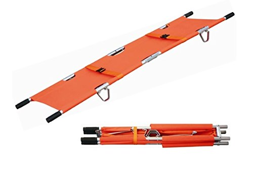Lettino di emergenza pieghevole in 4�parti arancione con borsa di trasporto 191���003�A 191-mayday