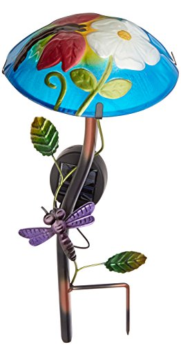 Preisvergleich Produktbild Gartenstecker Garten Solar-Pilz & draußen, Libelle, []