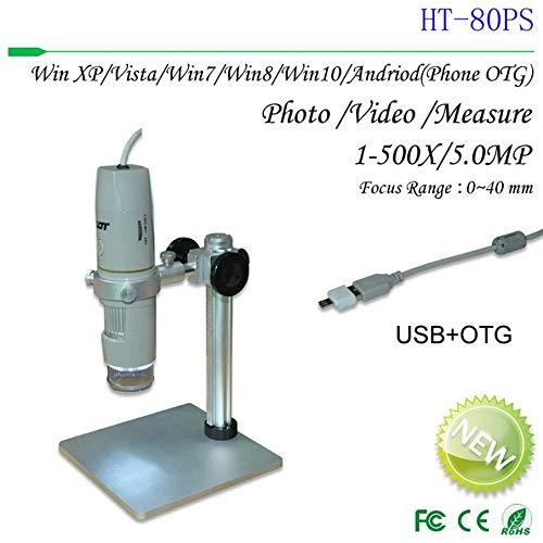 USB-DigitalMikroskop, tragbare 5.0MP 500X Stiftart Polariserte Microscope-Lupe mit Aluminiumhalter, Für Industrie, Bildung, Inspektion