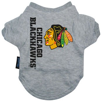 go Blackhawks Pet T-Shirt, Team Color (Hunter Kostüme)